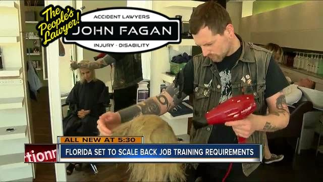 Florida set to scale back training requirements for several jobs
