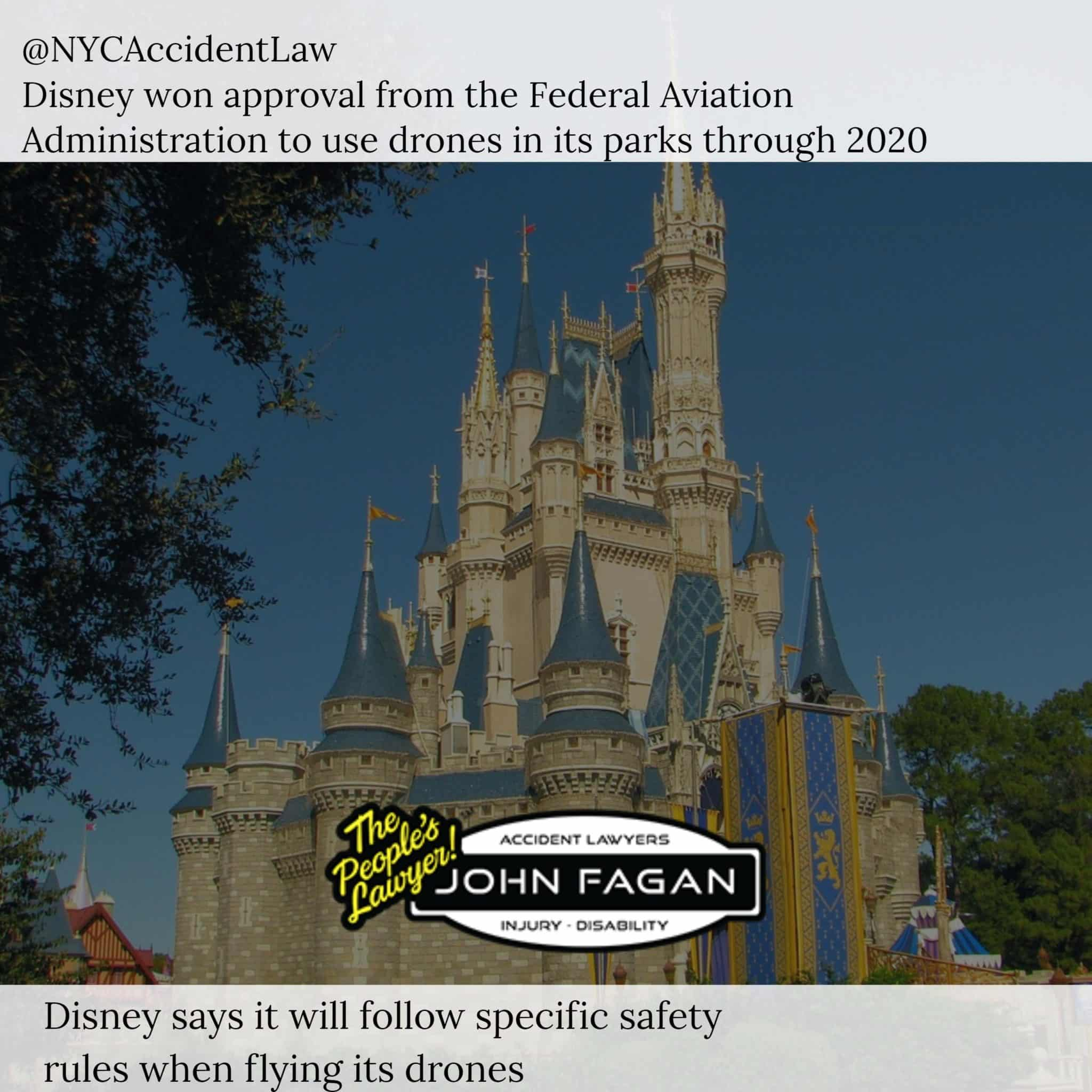 Airline Accident Lawyer – Disney Gets Federal Approval To Fly Drones