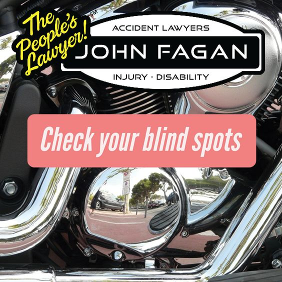 Unfortunately, a motorcyclist hides perfectly in a car's blind spot