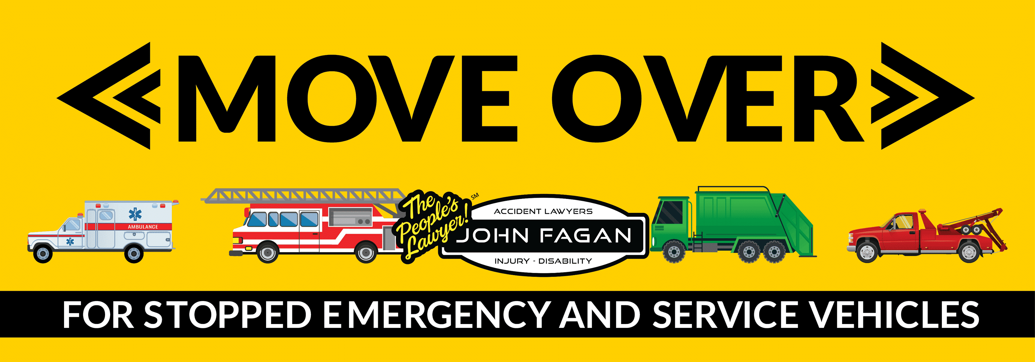 Florida law requires you to Move Over a lane — when you can safely do so — for stopped law enforcement, emergency, sanitation, utility service vehicles and tow trucks or wreckers